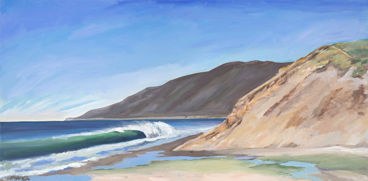 Jalama Green Room – 18″x36″ – Oil on Canvas