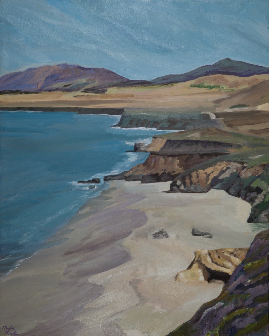Glorious San Simeon – 30″x24″ – Oil on Canvas