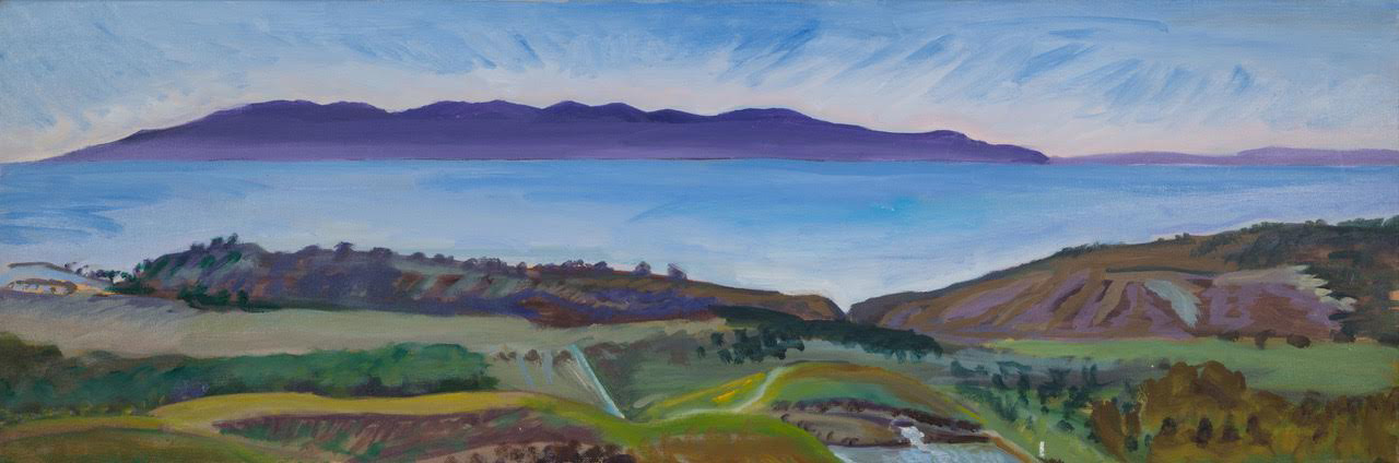 """""""View from Maile's porch"""" – """"12 x 36"""" – Oil on canvas"""